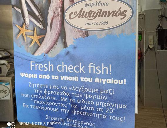 Έλεγχος Φρεσκάδας ψαριών-psaradiko.gr